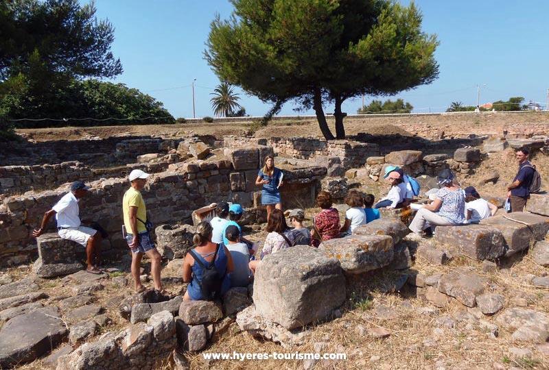 Visite du site archéologique d'Olbia à Hyères