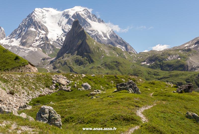 Vue sur l'Aiguille de la Vanoise