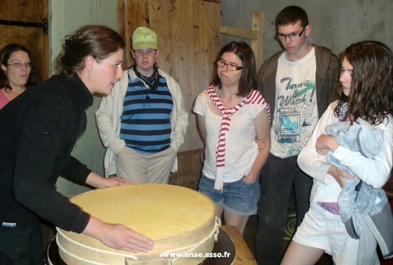 Visite de la fromagerie des Prioux à Pralognan-la-Vanoise