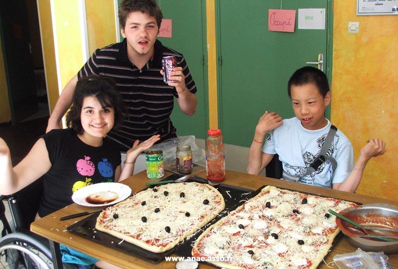 Atelier pizza pour enfants