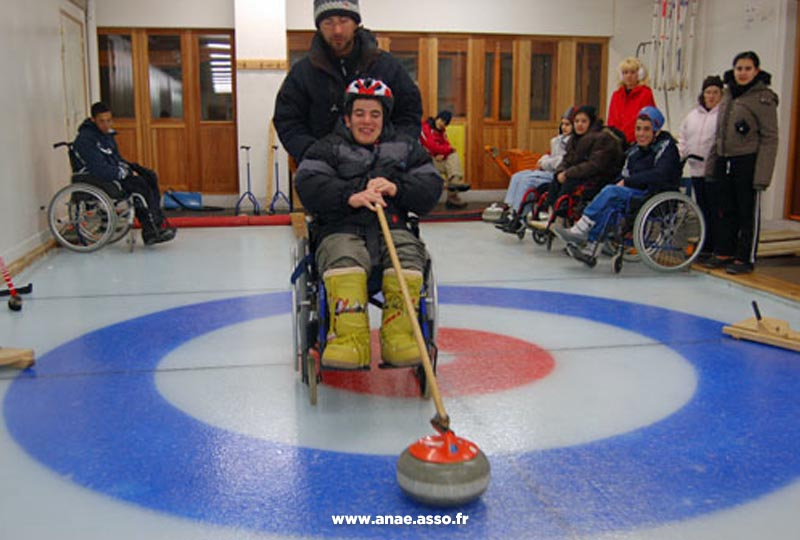 Pratique du curling adapté PMR