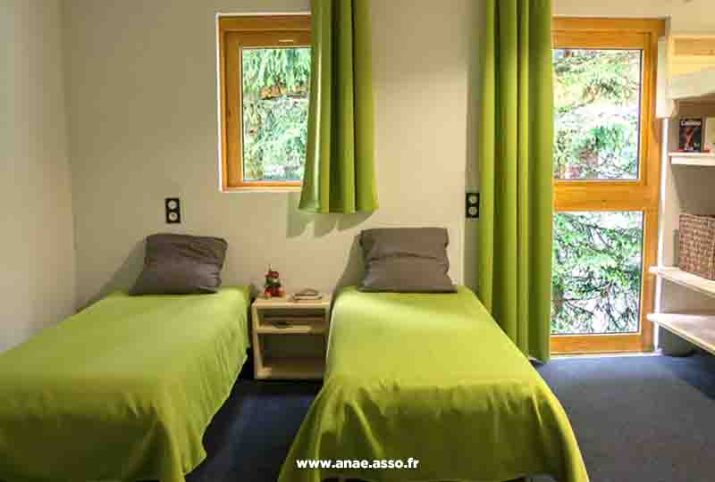 Exemple d'une chambre double au chalet de Pralognan