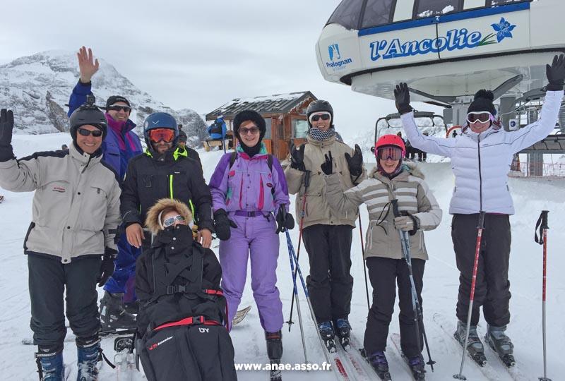 Activité ski tandem adaptée PMR