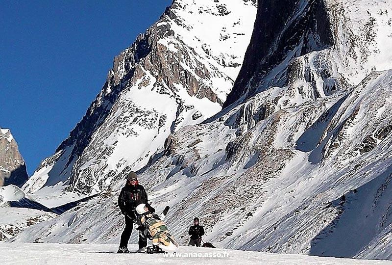 Activité dual ski adaptée PMR