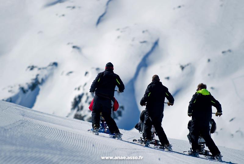 Activité ski assis adapté PMR