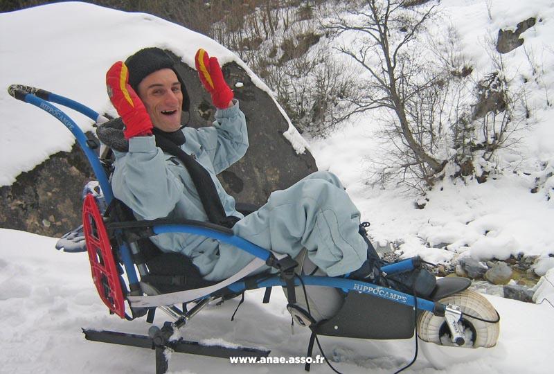 Promenade adaptée en fauteuil tout terrain hippocampe