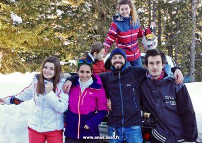 Une famille pendant un séjour au chalet Anaé de Pralognan