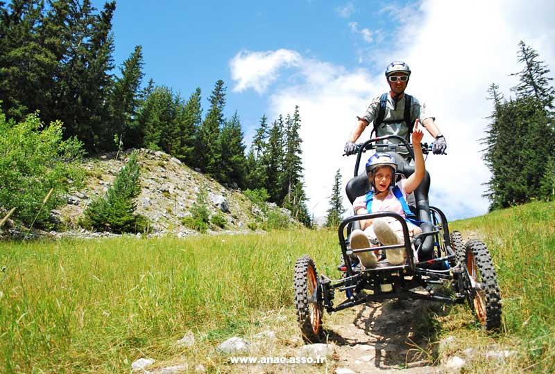 Anaé les vacances accessibles pour tous handicap moteur et mental avec des activités adaptées à la montagne comme le cimgo